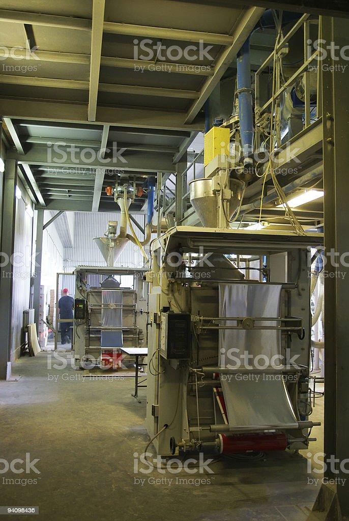Interior of factory stock photo