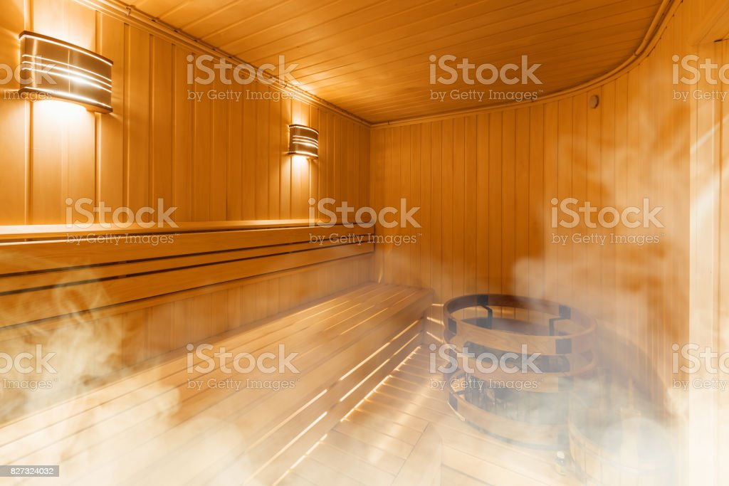 Fotografia De Interior De La Sauna Finlandesa Sauna De Madera - Sauna-madera