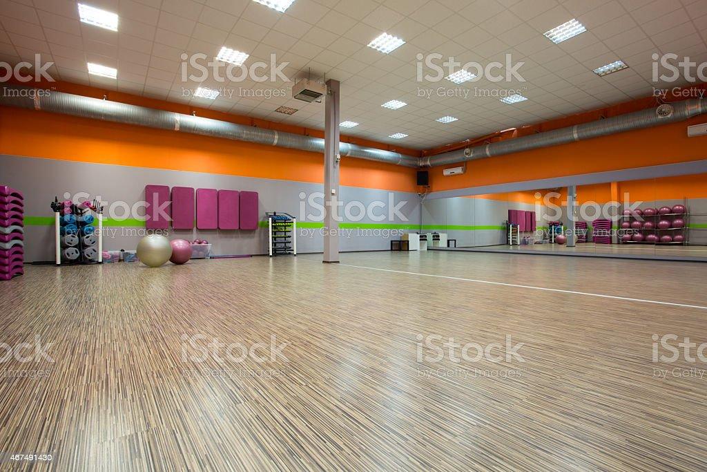 Interior of fitness room stock photo