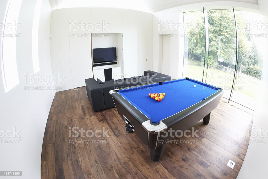 Interior Of Games Room In Modern House stock photo