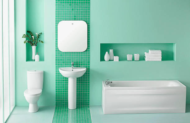 Innenansicht des green Badezimmer – Foto