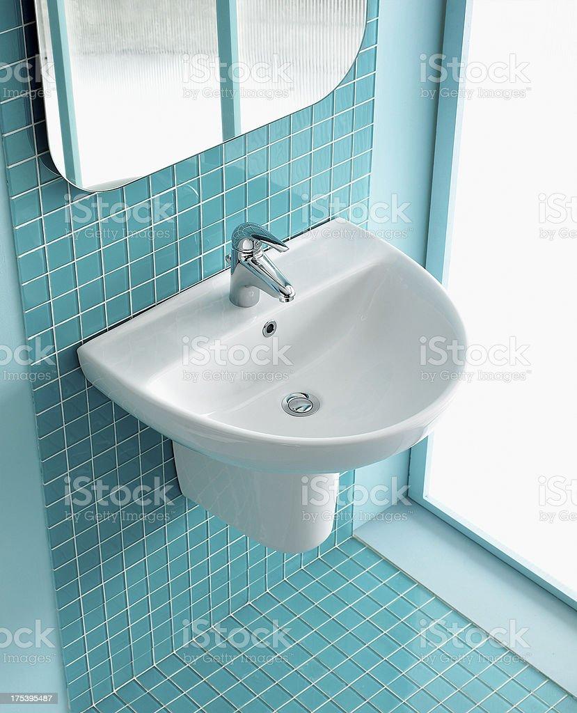 Interior of green bathroom royalty-free stock photo