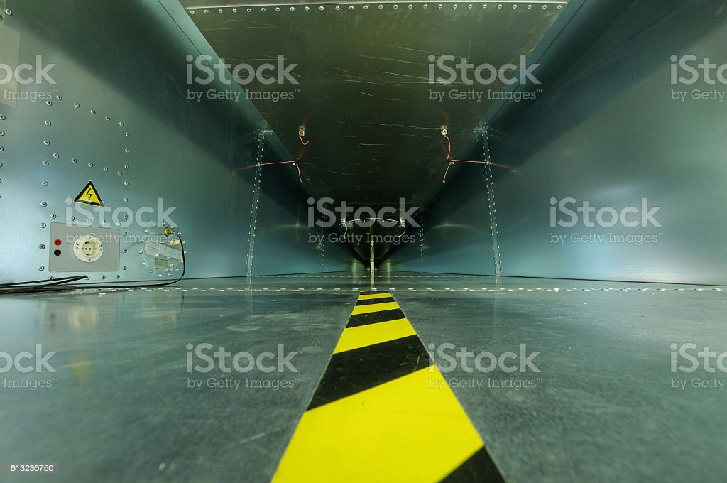 Interior of GTEM cell for electromagnetic compatibility testing stock photo