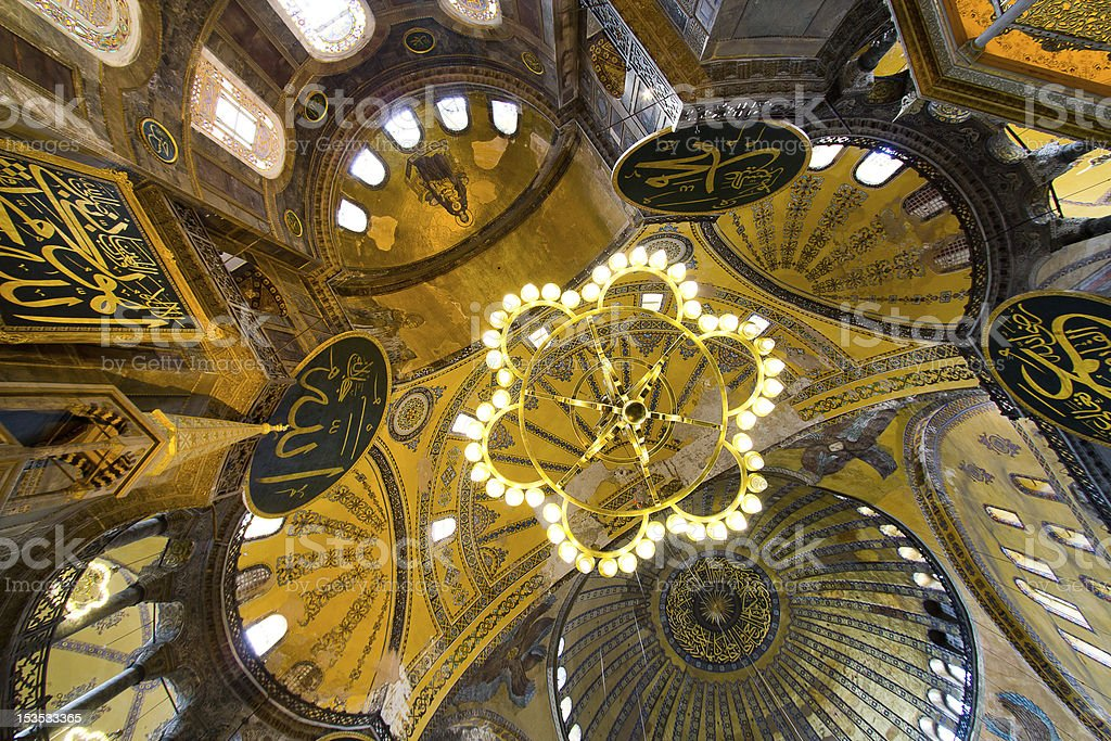 Interior  of Hagia Sophia Mosque, Istanbul royalty-free stock photo