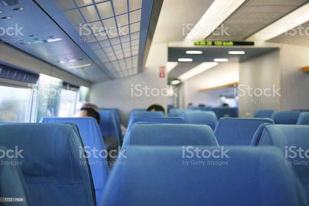 Interior Of High Speed Train royalty-free stock photo