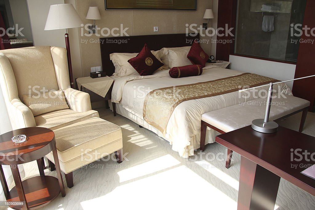 interior of hotel room stock photo