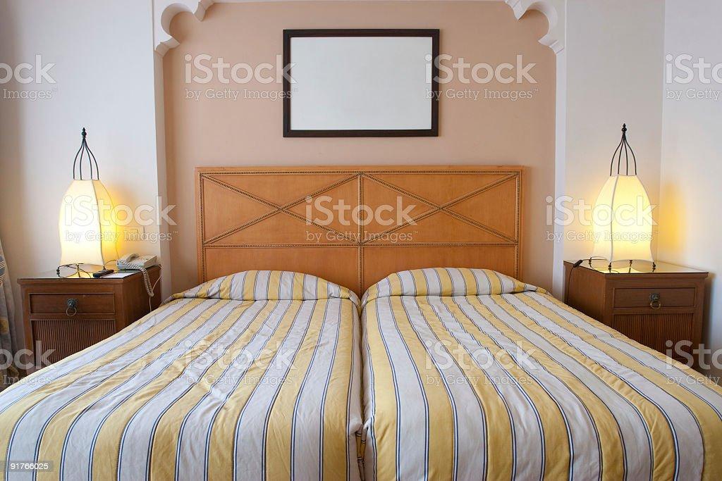 Interior of hotel room royalty-free stock photo