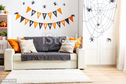 istock interior of   house decorated for   holiday halloween 846878280