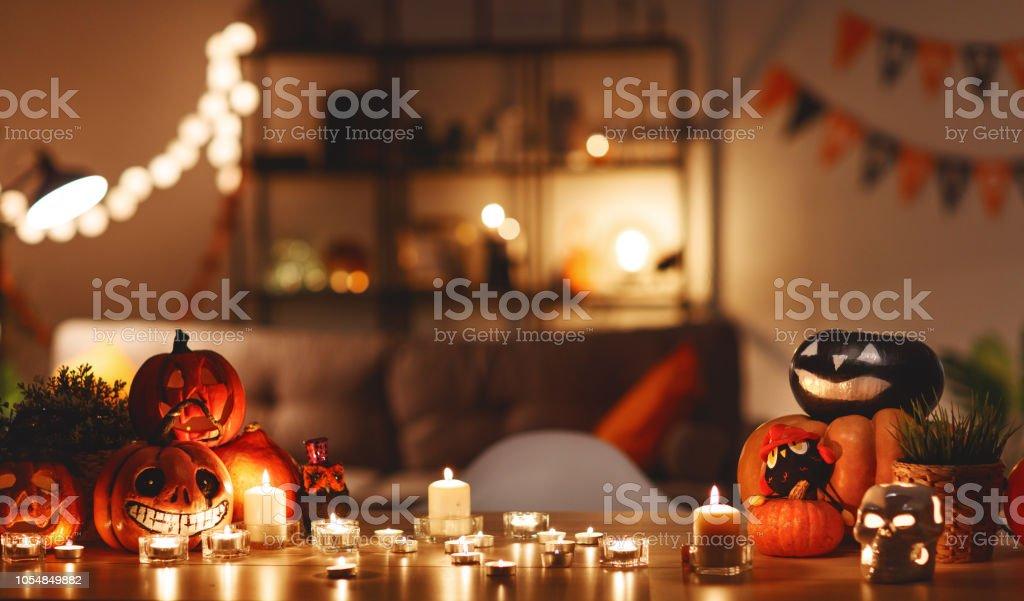 Haus dekoriert mit Urlaub von halloween – Foto