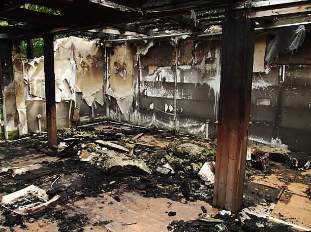 Verbrannt Haus – Foto