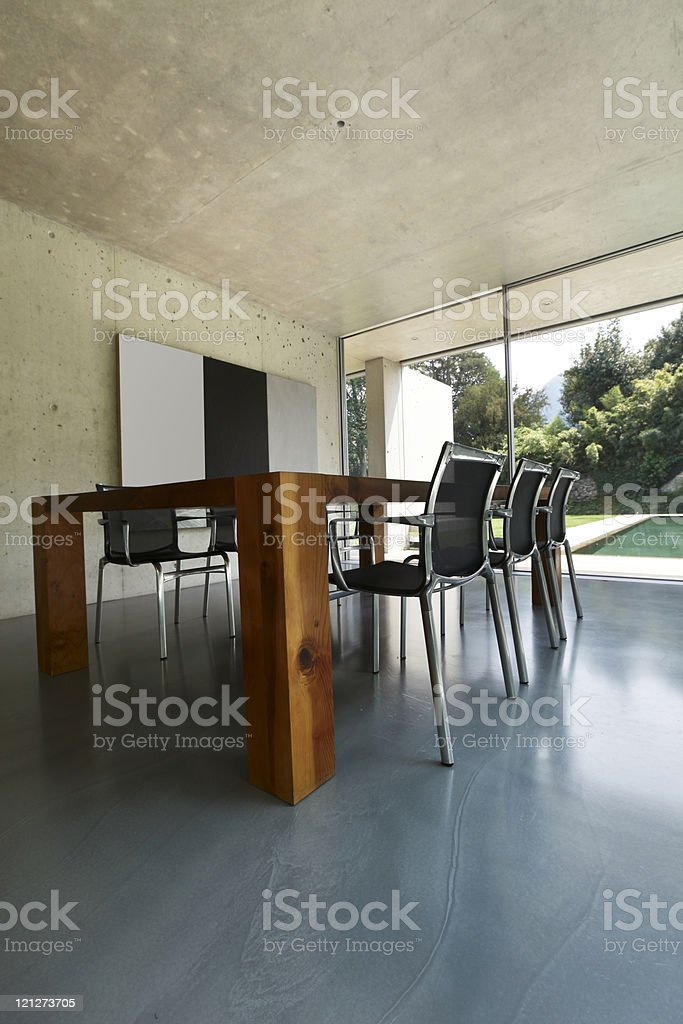 Interior of house using modern architecture royalty-free stock photo