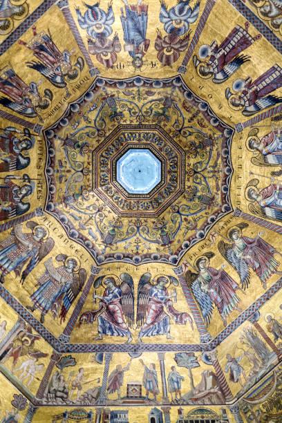 Interior of Il Duomo Cathedral stock photo