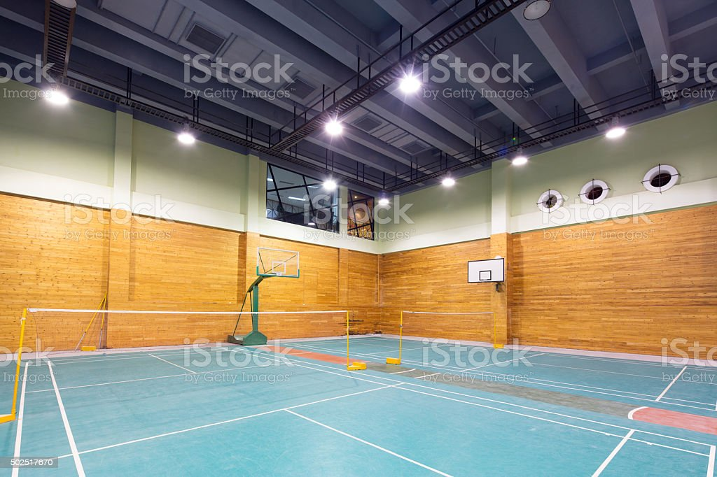interior of indoor stadium stock photo