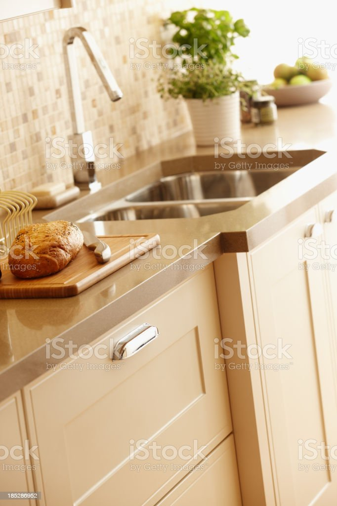 Interior of kitchen with close up on unit royalty-free stock photo