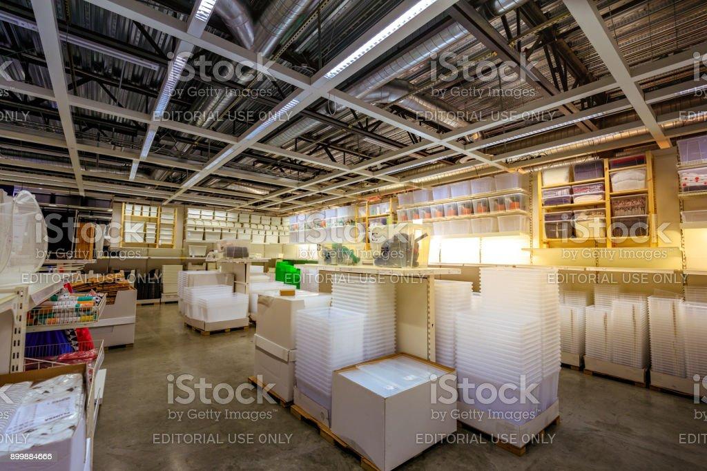 Interior Of Large Ikea Portland Home Furnishings Store Stock Photo