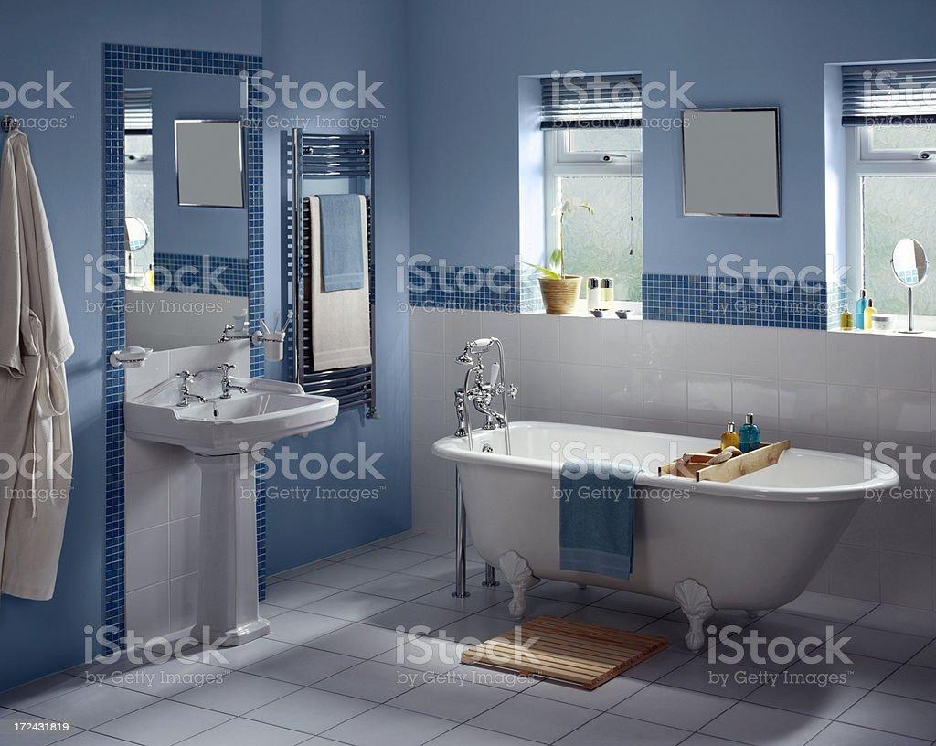Interior of large luxurious bathroom stock photo