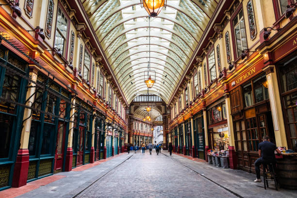 Interior des Leadenhall-Marktes in London – Foto