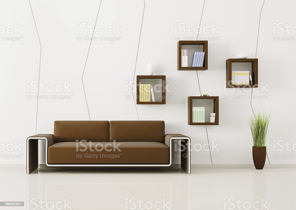 Interior of living room 3d render royalty-free stock photo