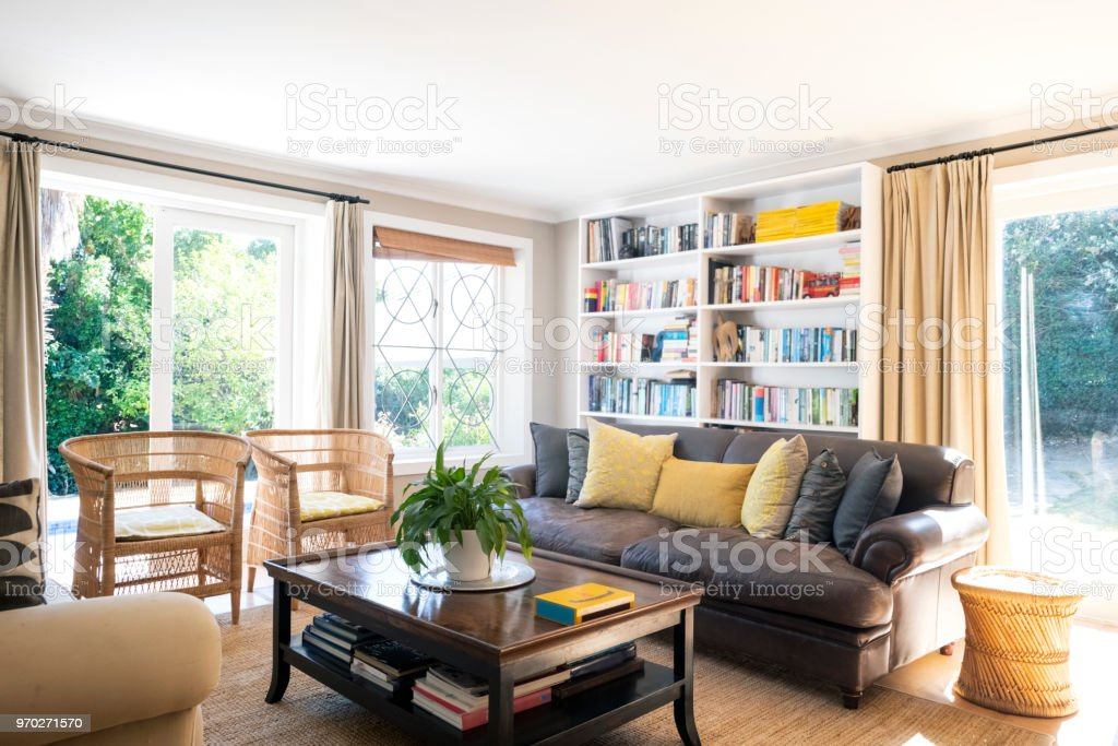 Interior of living room stock photo
