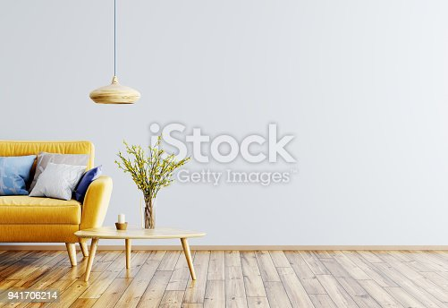 istock Interior of living room with sofa 3d rendering 941706214
