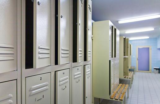 Interior of locker room