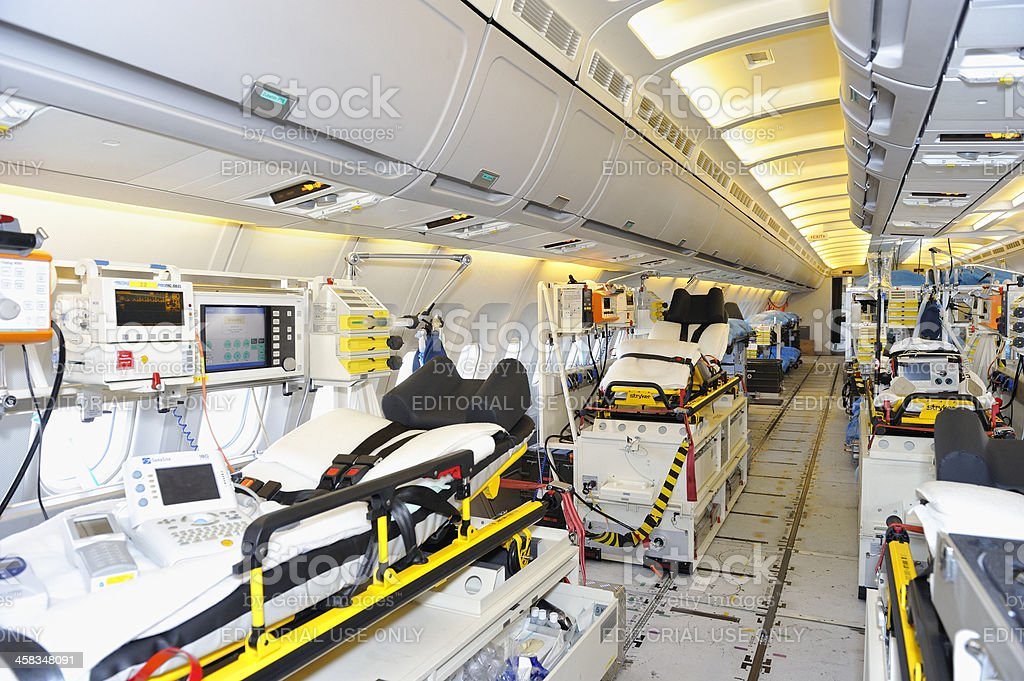 Interior of Luftwaffe Airbus A310-300 MRT MedEvac stock photo
