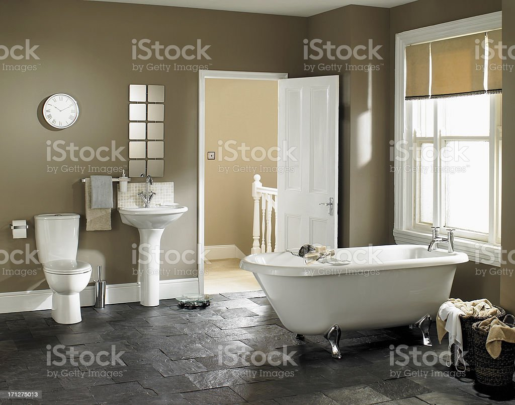 Interior of luxurious bathroom stock photo