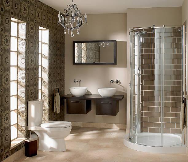 Innenraum des luxuriösen Badezimmer – Foto