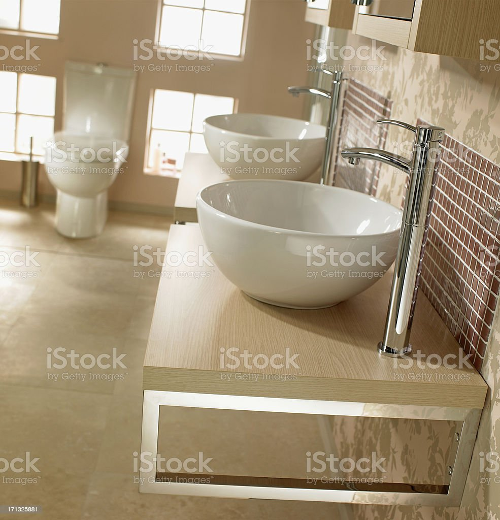 Interior of luxurious bathroom sink royalty-free stock photo