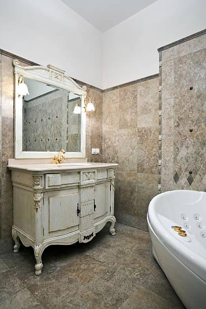 Interior of luxury bathroom stock photo