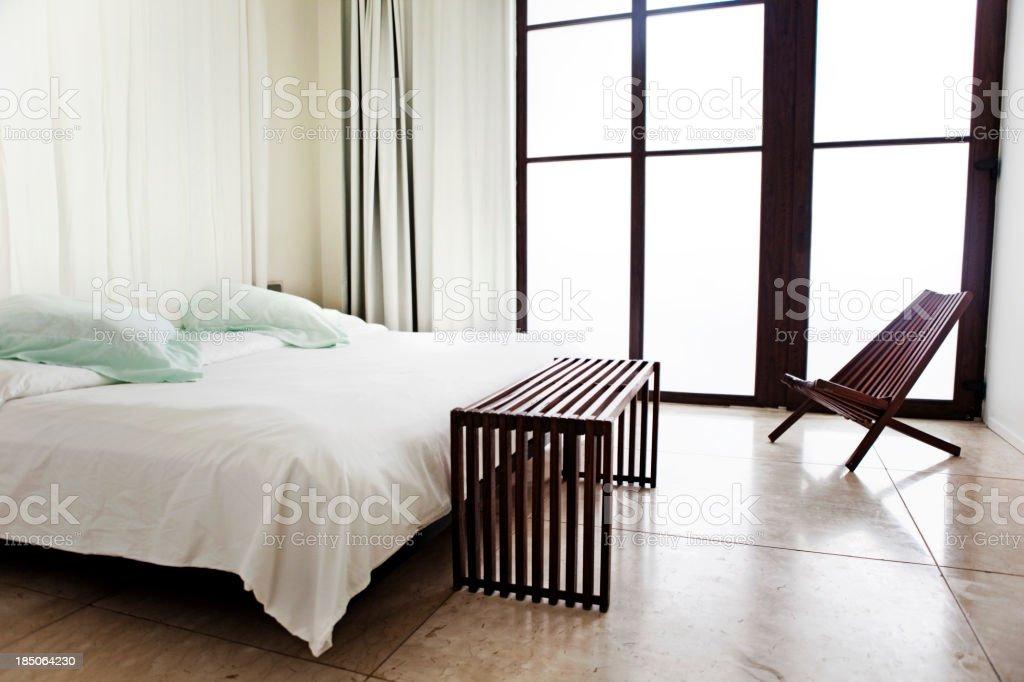 Interior of luxury bedroom royalty-free stock photo