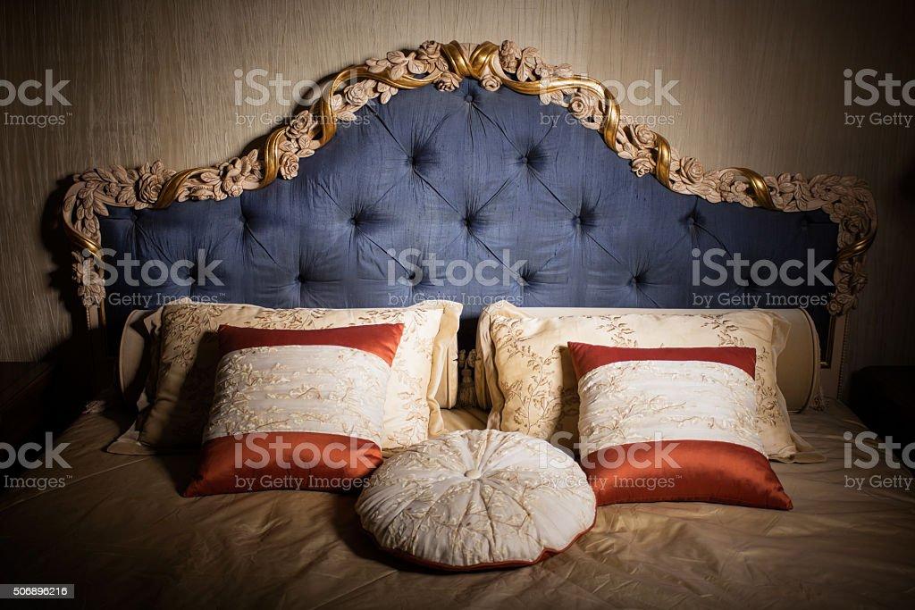Interior of luxury bedroom stock photo
