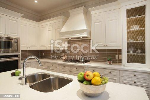 istock Interior of luxury kitchen in North America 155383266