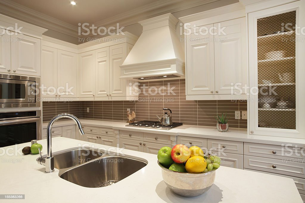Interior of luxury kitchen in North America stock photo