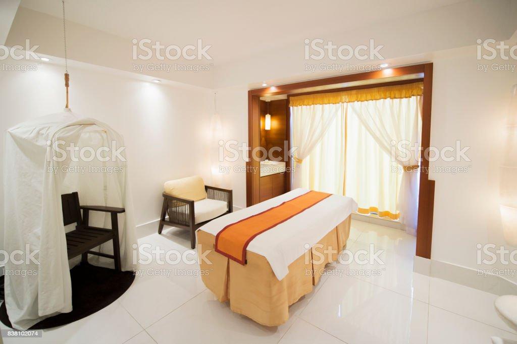 Interior Of Massage Room In Spa Salon Stock Photo Download