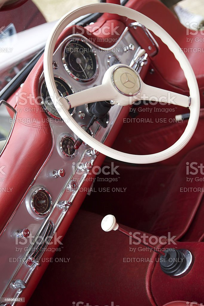 Interior of Mercedes 300 SL royalty-free stock photo
