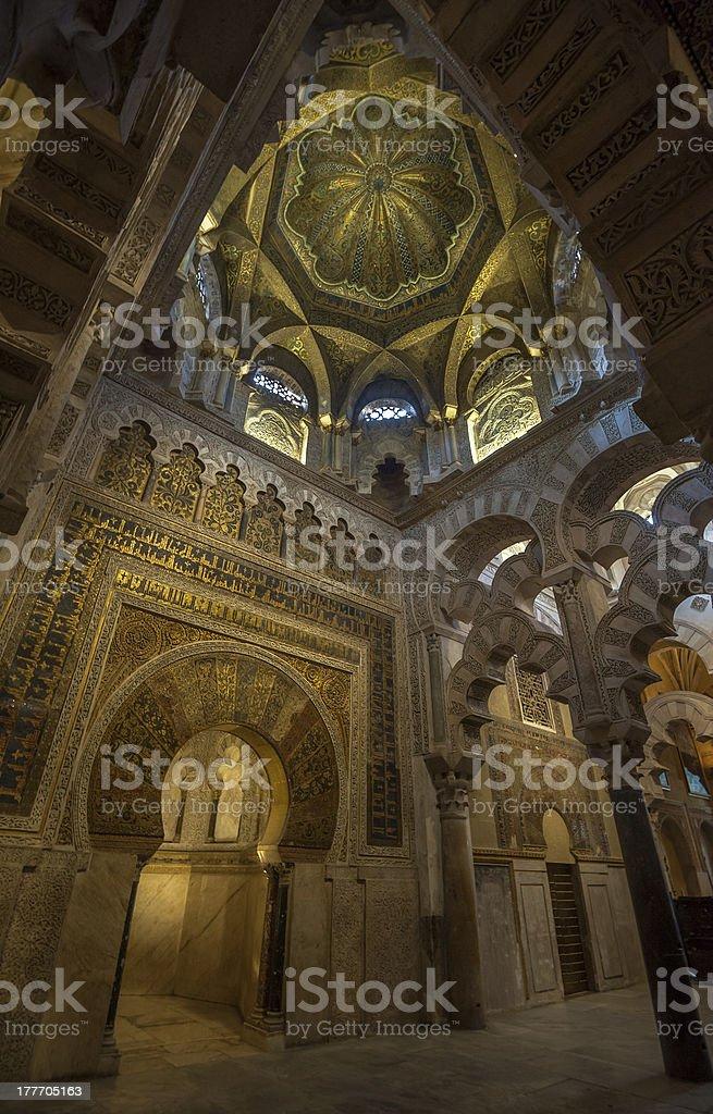 Interior of Mezquita-Catedral, Cordoba, Spain royalty-free stock photo
