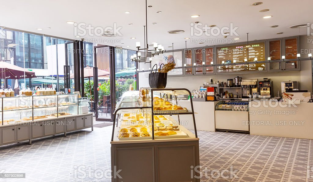 interior of modern bakery stock photo