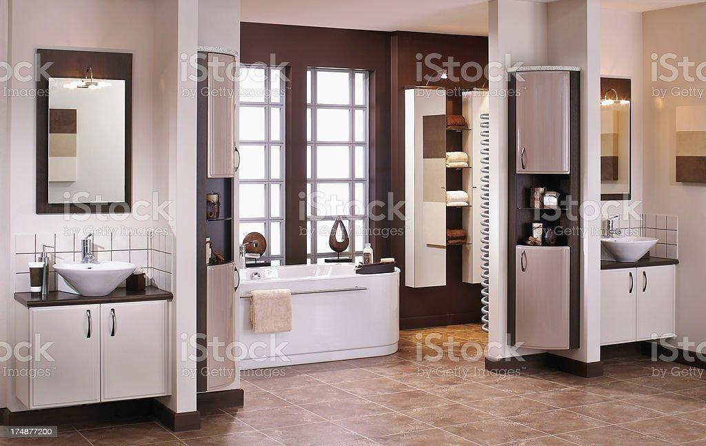 Interior of modern bathroom royalty-free stock photo