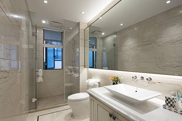 interior do banheiro moderno - foto de acervo