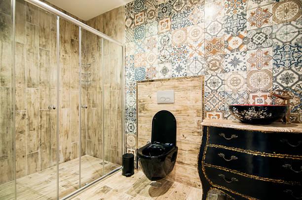 interieur des modernen badezimmer - exklusive mode stock-fotos und bilder