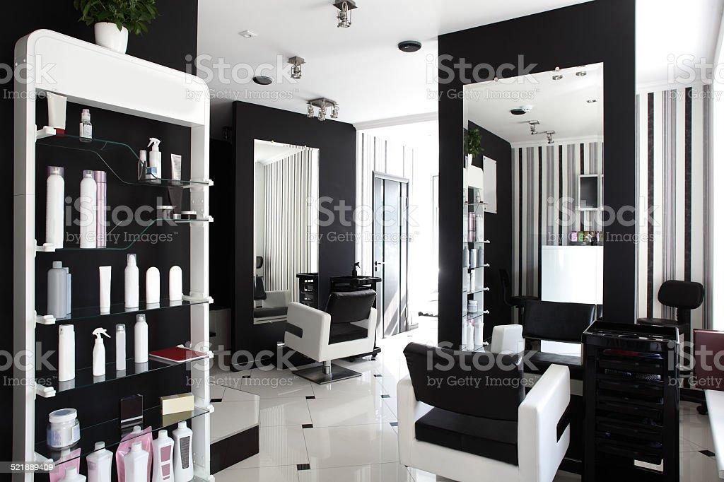 interior of modern beauty salon stock photo