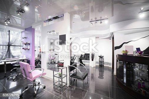 1131824191 istock photo interior of modern beauty salon 528725215