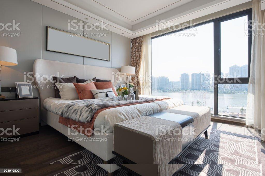 Interieur des modernen Schlafzimmer – Foto