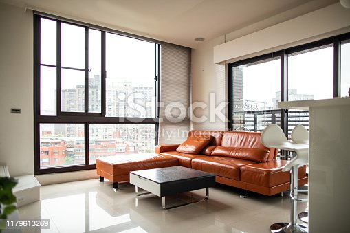 640265128 istock photo Interior of modern, bright living room 1179613269