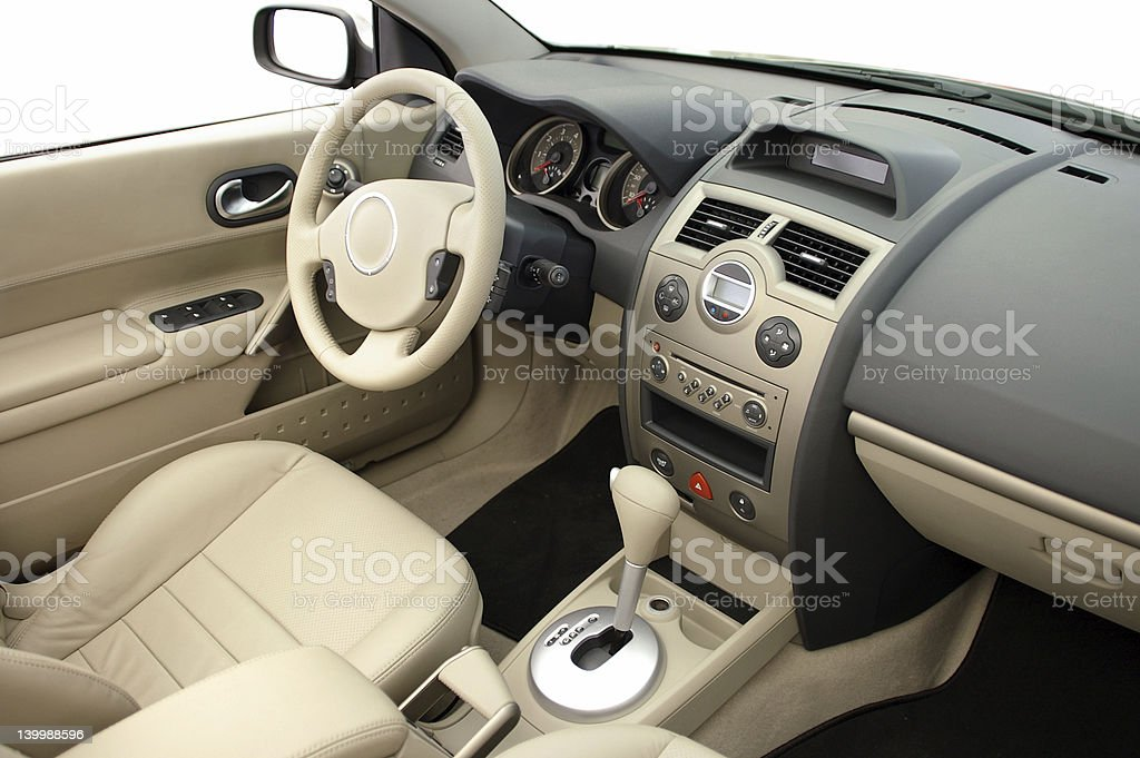 Interior of modern cabriolet car stock photo