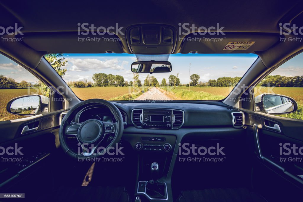 interior of modern car dashboard – Foto