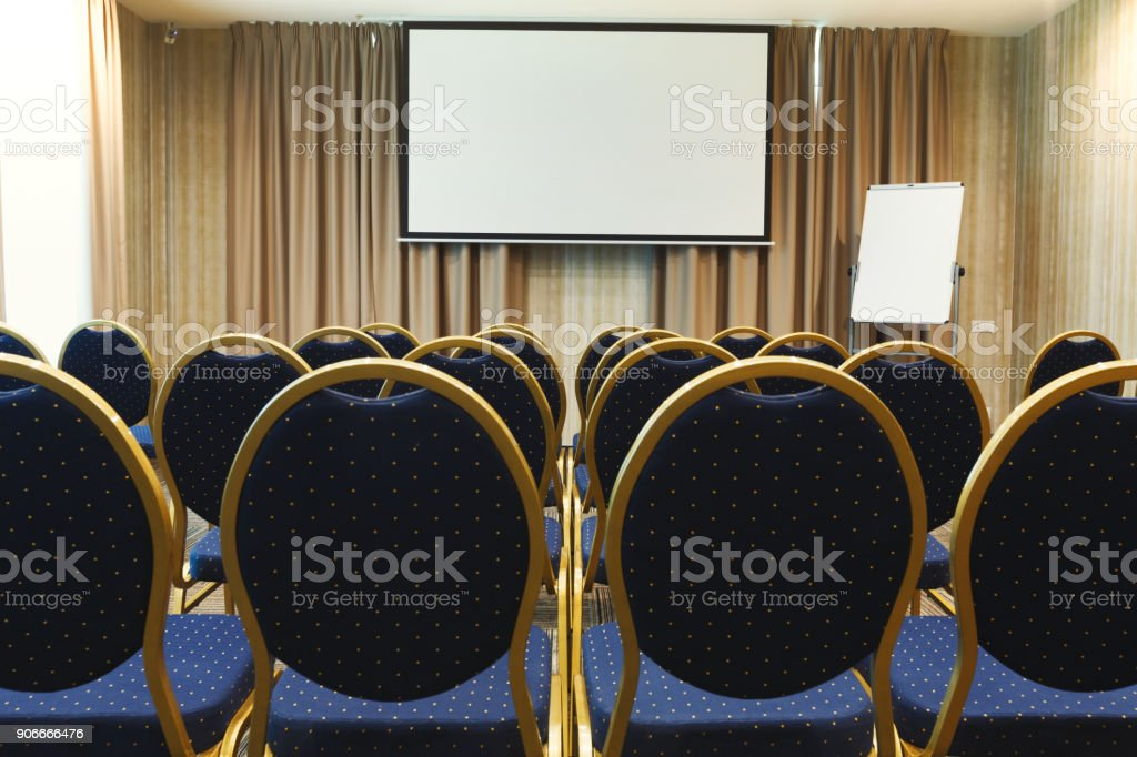 Interior of modern conference hall in contemporary hotel, perfect...