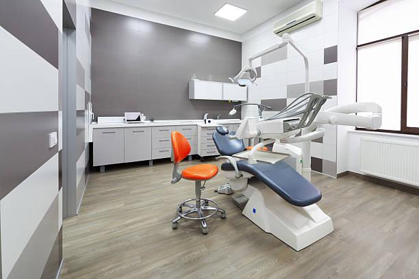 interior of modern dental office. - stuhl neu gestalten stock-fotos und bilder