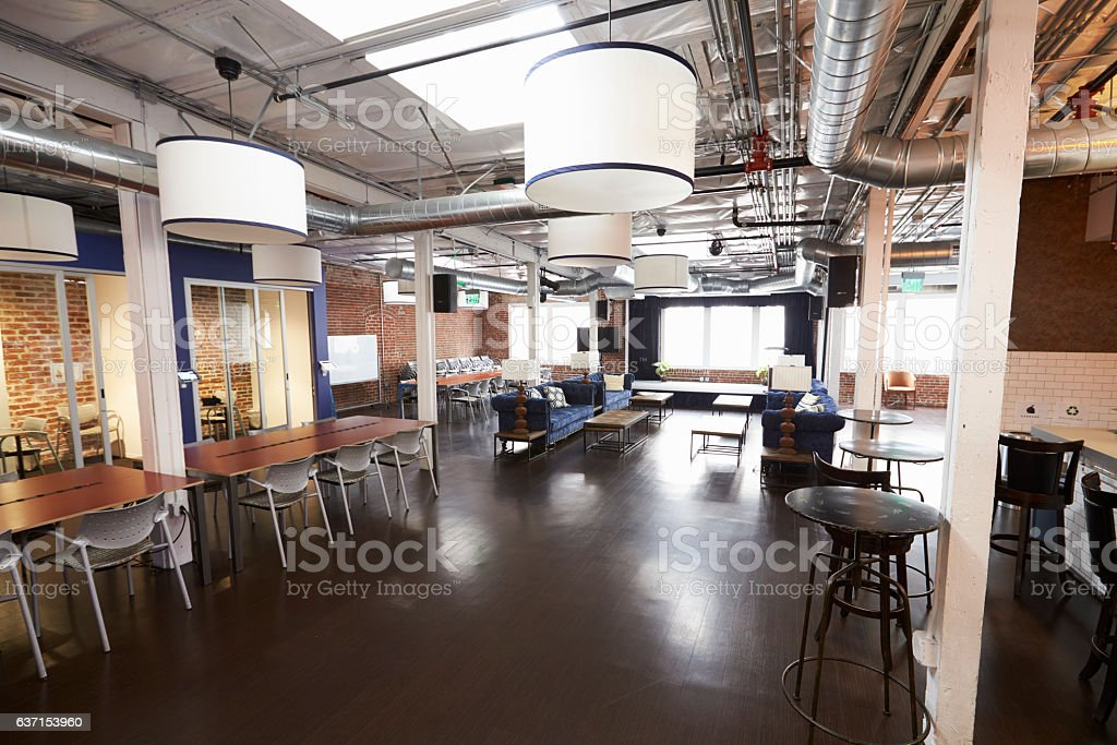 Interior Of Modern Design Office With No People stock photo